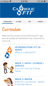Catholic Fit app